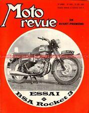 MOTO REVUE 1919 BSA 750 Rocket 3 CZ Cross 250 360 BSA 500 Jacques ROCA 1969
