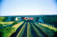 PHOTO  1979 IRELAND MOTORWAY FLYOVER AT GREENCASTLE A TRAIN DRIVERS EYEVIEW OF T