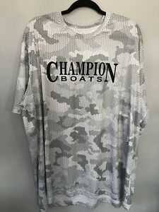 Champion Boat White / Black Sublimated Performance Camo Hex Shirt (2-XL)