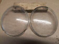 Morris 8 EIGHT Series E , Lucas 509722 oval glass head lamp light lens x two