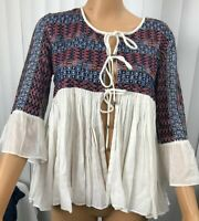 Zara Trf Outerwear Boho Aztec  Blazer Jacket Festival Size Medium Chic BohemianD