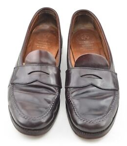 ALDEN x BROOKS BROTHERS 8C #8 SHELL CORDOVAN UNLINED LOAFERS SHOES 763