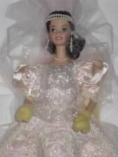 1997 Blushing Orchid BRIDE Barbie Porcelain Doll Wedding Flower Series 16962 NIB