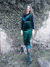 Vestido de encaje Terciopelo verde ZARA AW2018 Talla XS S XXL Bloggers Fave agotado
