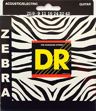 DR Zebra Acoustic-Electric Guitar Strings ZE-9 extra lite 9-42