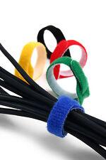 Klett Kabelbinder 5 Stück - 15 cm lang - Schwarz, Blau, Rot, Grün, Gelb