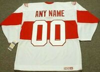 """DETROIT RED WINGS 1920's CCM Vintage Throwback """"Customized"""" NHL Hockey Jersey"""