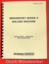 BRIDGEPORT Mill Series II Standard 4J Head Operation & Parts Manual 0075