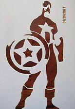 Captian America Stencil Reusable 10 mil Mylar Stencil
