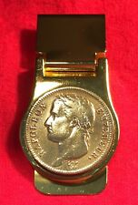 French Emperor Napoleon Bonaparte France Gold Tone Coin Money Clip + Gift Box!