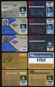 15 expired Bank of America plastic ATM & Credit Cards etc.