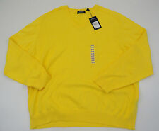 Jack Nicklaus Mens Yellow Sunlight NWT Pullover V-neck Sweater Sz XXXL