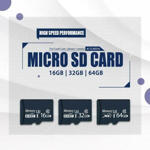 Micro SD Card 16GB/32GB/64GB A1 Class10 U3 100MB/s V30 for crashcam/phone/camera