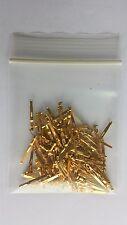 ITT Cannon DL ZIF Connector Pins 50u Gold PN 030-2410-003 100 Per Bag