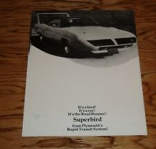 1970 Plymouth Road Runner Superbird Fact Folder Sales Brochure 70