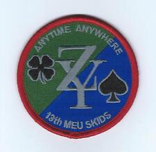 "13th MEU SKIDS(VMM-166 & HMLA-267) ""ANYTIME ANYWHERE"" patch"