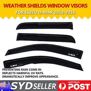 Weathershields Rain Shield Wind Noisy Reduce Compatibility For ISUZU D-MAX 13-15