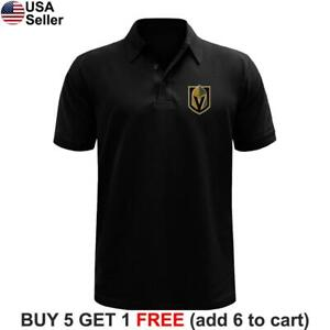 Las Vegas Golden Knights Polo Shirt LVGK Button VGK Golf Chest