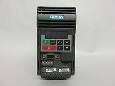 Siemens 6SE3211-5CA40 Micromaster Vector Drive 0.33HP