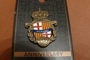 Hard Rock Cafe Pin - Barcelona 2017 - 20th Anniversary Pin
