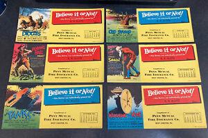 Ink Blotters Lot (6) Ripley's Believe It or Not '30's-50's  Calendar