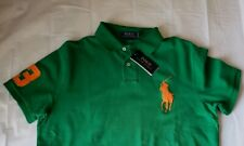 Polo Ralph Lauren Men's Green Big Pony L Size Custom Fit Polo Shirt