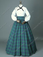 Victorian Dickens Caroler Little Women Dress Maid Pioneer Halloween Costume 314