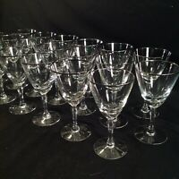 Platinum Banded Crystal Sherry Glass 5.5""