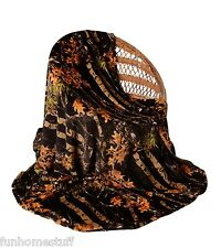 "BLACK CAMO Camouflage Woods Luxury Twin Soft Fleece Cashmere Blanket 60"" x 80"""