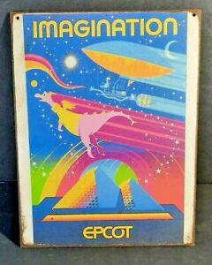 IMAGINATION FIGMENT EPCOT Handmade Disney World vintage Ride sign