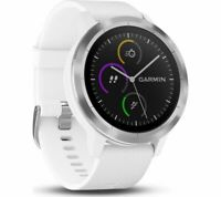 New Garmin Vivoactive 3 GPS Watch Activity Tracker White 010-01769-21 + More