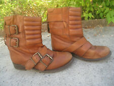 Boots motard, camel, cuir. Pointure camel. Petit prix, à voir !