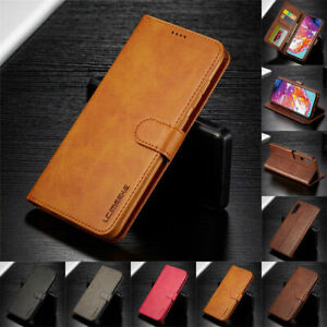 LC.imeeke For Samsung A10 A20/30 A50 A70 A80 Flip Leather Wallet Card Case Cover