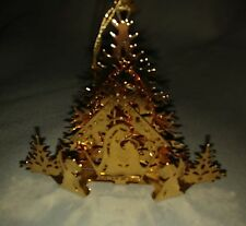 Danbury Mint Christmas Ornament Manger