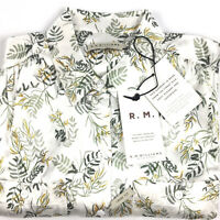 RM Williams Womens 100% Silk Long Sleeve Taree Floral Shirt Size 10 Loose Fit
