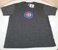 Chicago Cubs Shirt Mens Large Majestic MLB Gray Short Sleeve Baseball