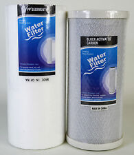 "New 10"" x 4.5"" PP Spun Sediment + Carbon Water Filter Cartridge Set  - 1 Micron"