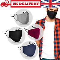 Reusable Face Mask Covering Shield Cotton Washable for Mouth Protective UK