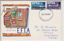 GB QEII 1967 FDC FIRST DAY COVER EFTA EUROPEAN FREE TRADE AGREEMENT