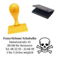 Adressenstempel « TOTENKOPF SCHÄDEL » mit Kissen - Gothic Grufti Pirat