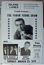 Rare Vintage Country Music Poster - The Faron Young Show - Original