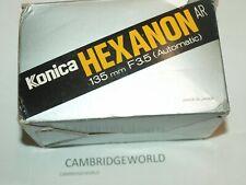 KONICA HEXANON NEW 135mm F3.5 AUTOTELEPHOTO LENS in a FACTORY BOX KONISIROKU