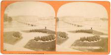 Stereo Suisse, Schweiz, Genève, Genf, Pont du Mont Blanc, circa 1870 Vintage ste