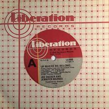 "JOE COCKER - Up Where We Belong - 45rpm 7"" Vinyl Single Record (Excellent)"