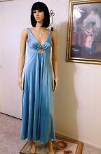 OLGA vintage Nylon Keyhole Nightgown SEA DRAGON GREEN style 9625 size 34 bust