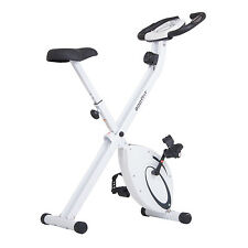 Exercise Bikes Folding Upright Exercise Bike with Heart Rate and Contoured Seat