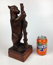 More details for rattee & kett- fine vintage carved oak bear baiting figure- cambridge mouseman