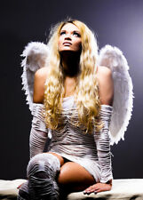 Gorgeous Angel Medium White Feather Wings