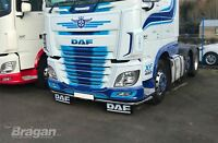 To Fit DAF XF 106 Low Light Bar Spoiler Under Bumper Lobar + 11 LED + Mud Flaps