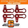 Agency6 Billet L-Shaped Roof Locks SET OF 4 for JK Jeep Wrangler 6 colors